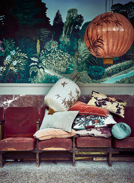 lifestyle picture of HK Living Kyoto Cushion on a sofa