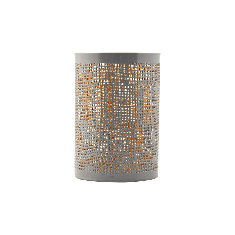 House Doctor Hurrican Hessian Candle Holder