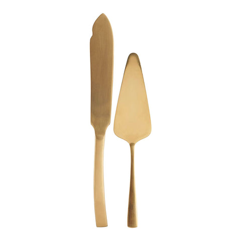 House Doctor Golden Cake Servers