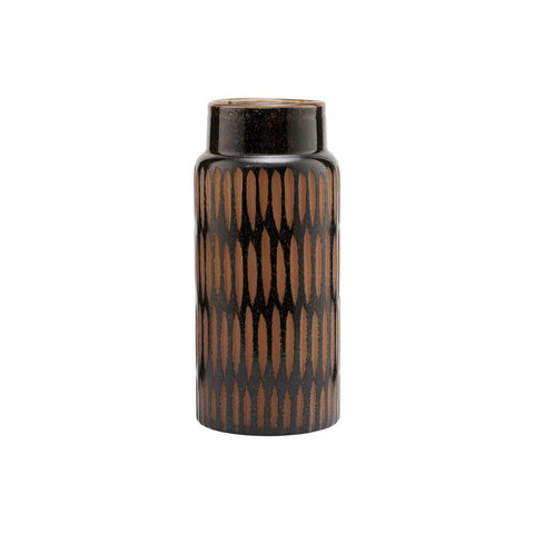 House Doctor Black & Brown Pimpri Glass Vase