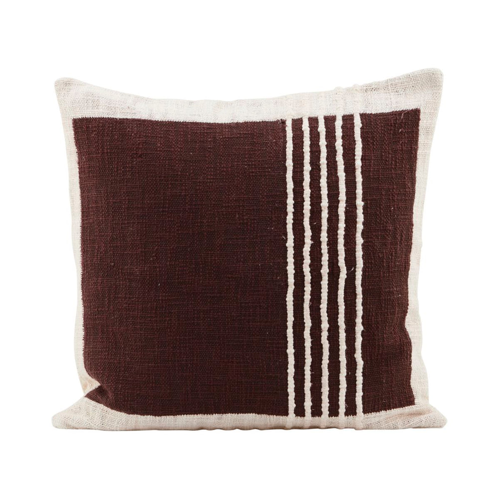 Brown Yarn Cushion