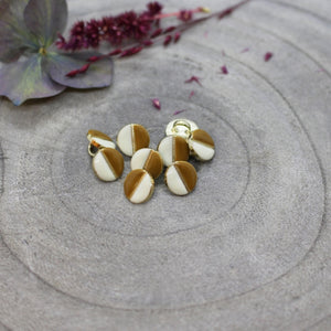 Load image into Gallery viewer, Mustard Ochre & White Wink Buttons