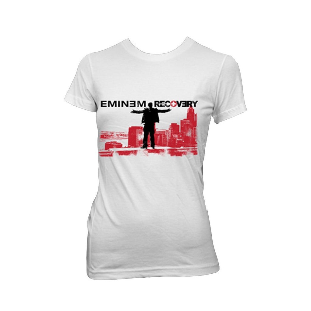 Eminem Top Of The World - Womens White T-Shirt - MOBOLINE