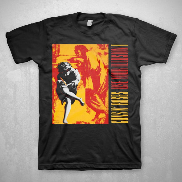 Guns N' Roses Use Your Illusion - Mens Black T-Shirt - MOBOLINE