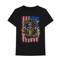Guns N' Roses Vintage Skull Flag - Mens Black T-Shirt - MOBOLINE