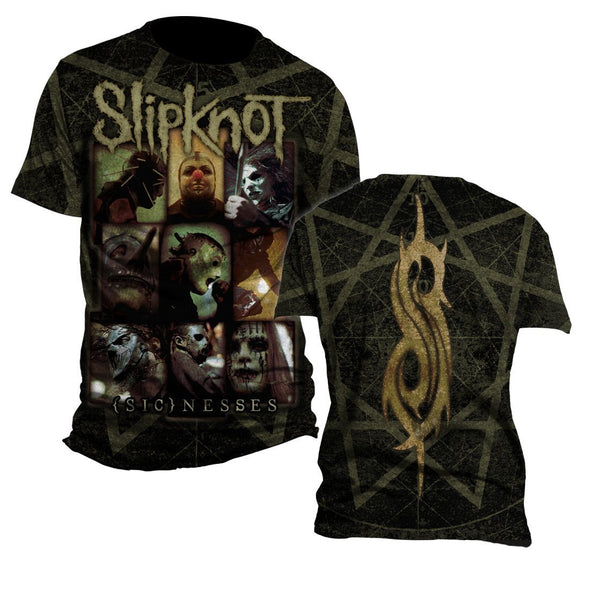 Slipknot Sicknesses - Mens Black T-Shirt