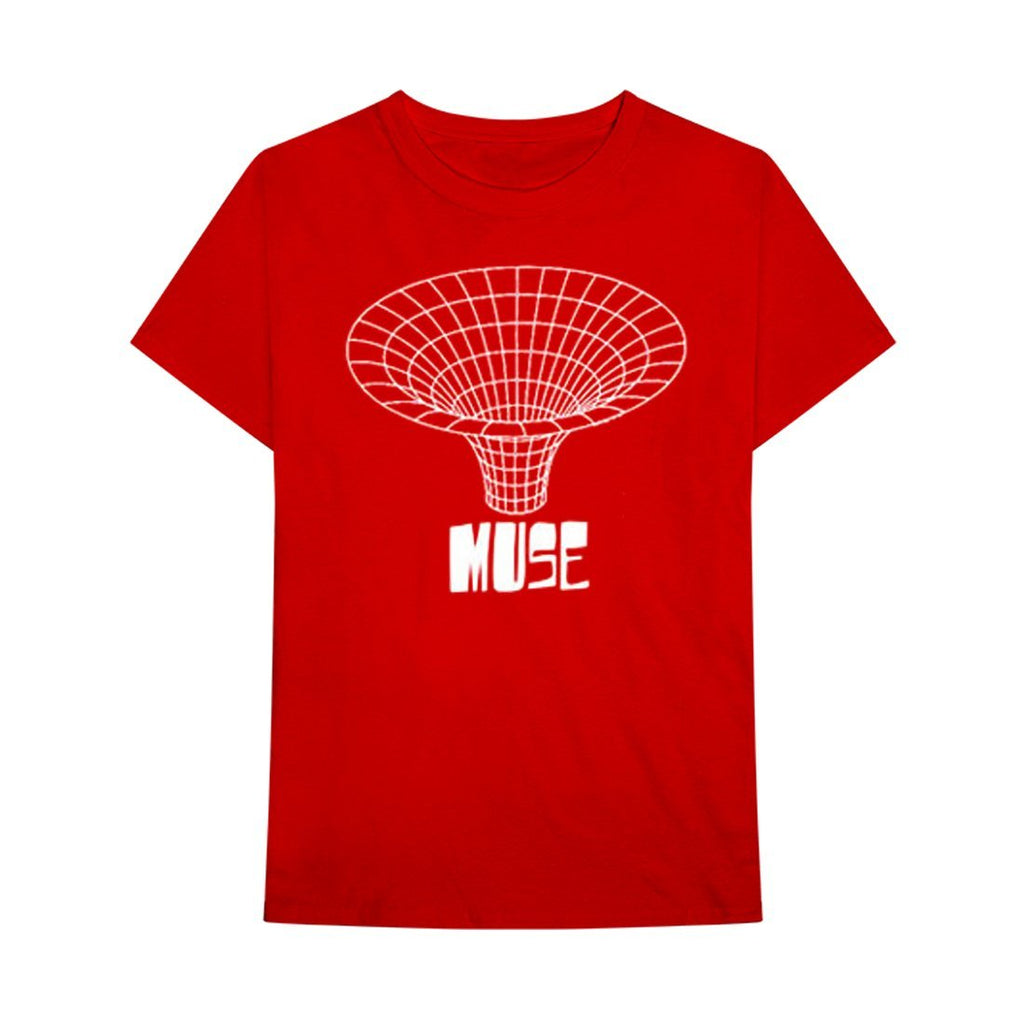 Muse Drawn In - Mens Red T-Shirt