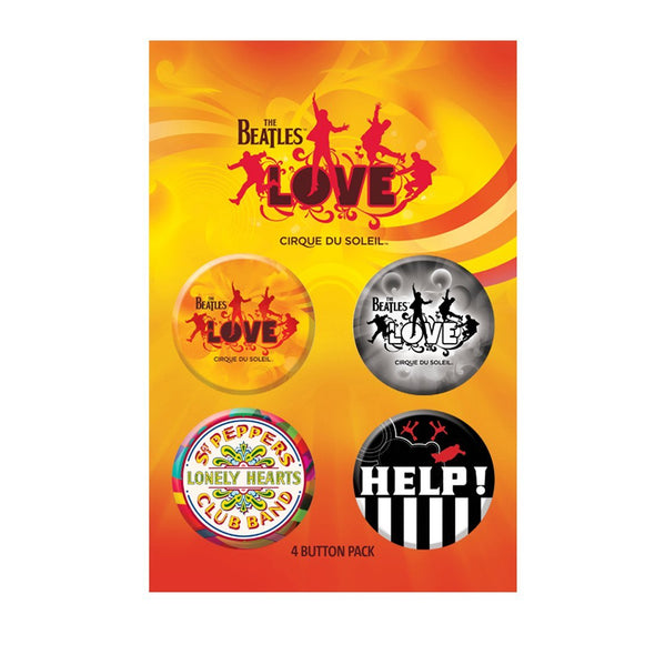 The Beatles Love Cirque - Unisex White Button Set