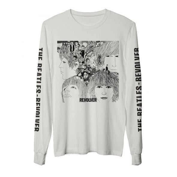 The Beatles Revolver - Womens White Long Sleeve T-Shirt