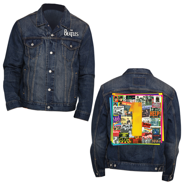 The Beatles 1s - Mens Navy Denim Jacket