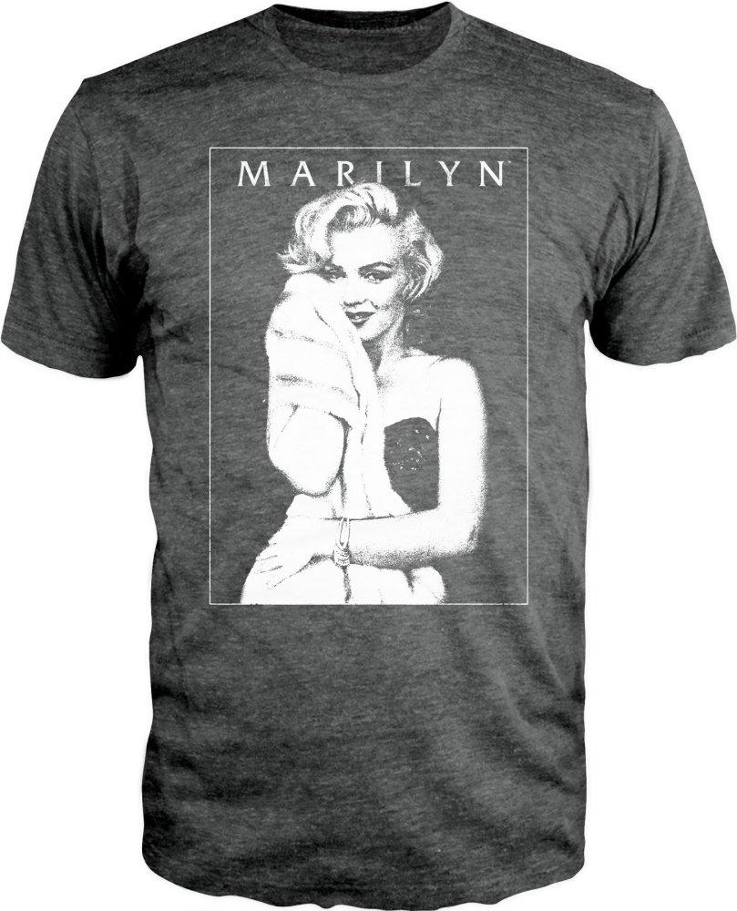 Marilyn Monroe Men's Charcoal Heather T-Shirt - MOBOLINE