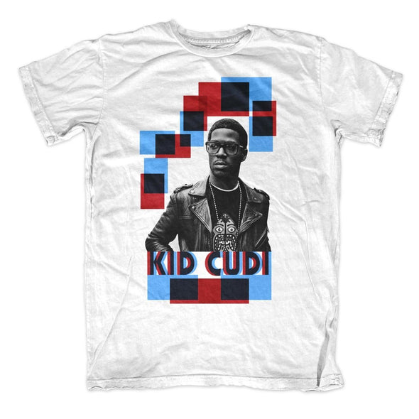 Kid Cudi Squares - Mens White T-Shirt - MOBOLINE