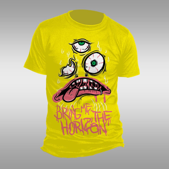 Bring Me The Horizon Kkk - Mens Yellow T-Shirt - MOBOLINE