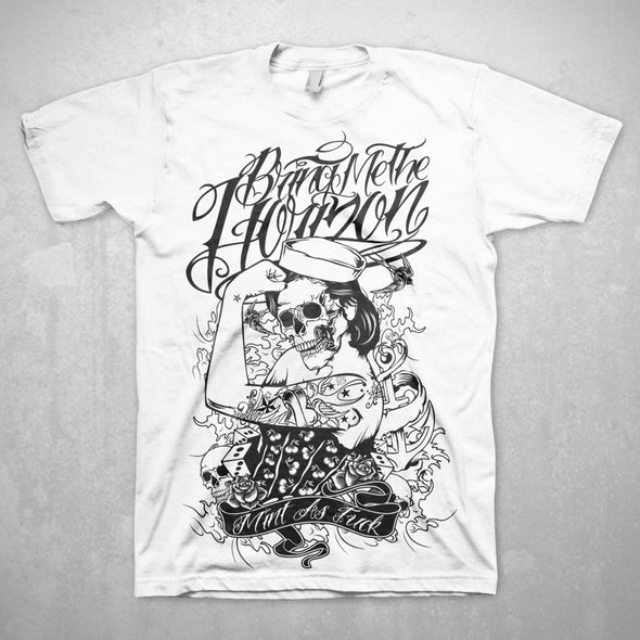 Bring Me The Horizon Sailors Beware - Mens White T-Shirt - MOBOLINE