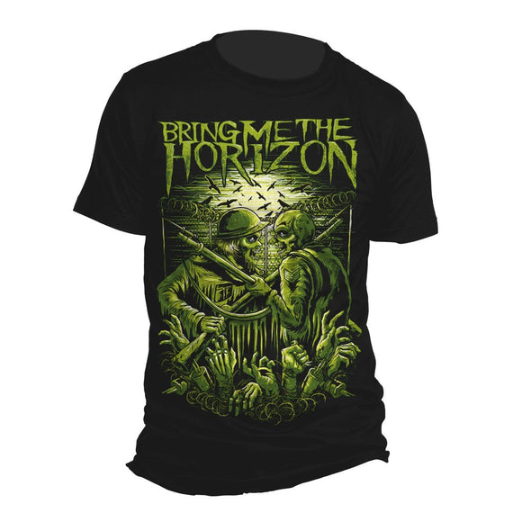 Bring Me The Horizon Wwwiii - Mens Black T-Shirt - MOBOLINE