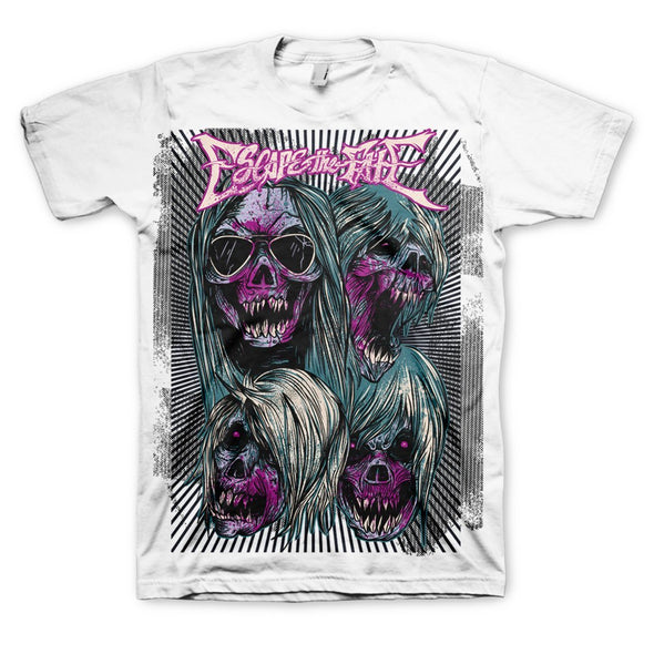 Escape The Fate Escape Ad  - Mens White T-Shirt - MOBOLINE