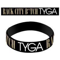 Tyga R City - Unisex Black Rubber Bracelet