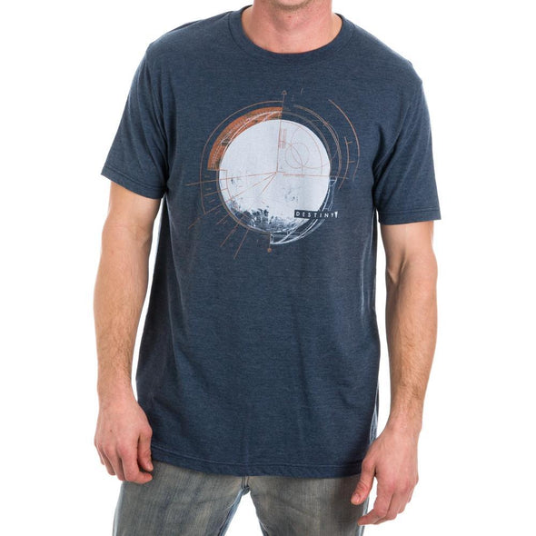 Destiny Moon Luna Men's Blue T-Shirt Tee Shirt - MOBOLINE