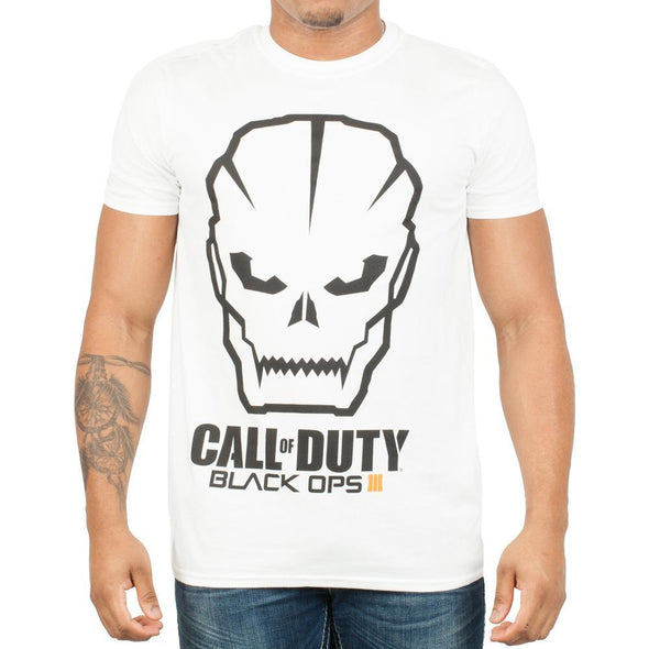 Call Of Duty Black Ops 3 Men's White T-Shirt Tee Shirt - MOBOLINE