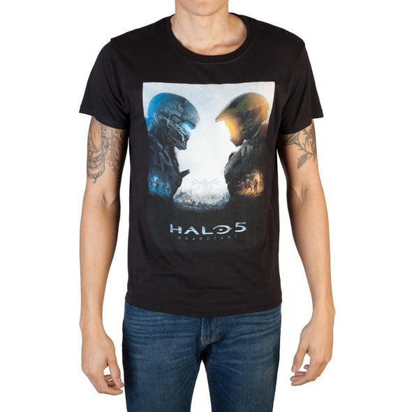 Halo 5 Logo Men's Black T-Shirt Tee Shirt - MOBOLINE