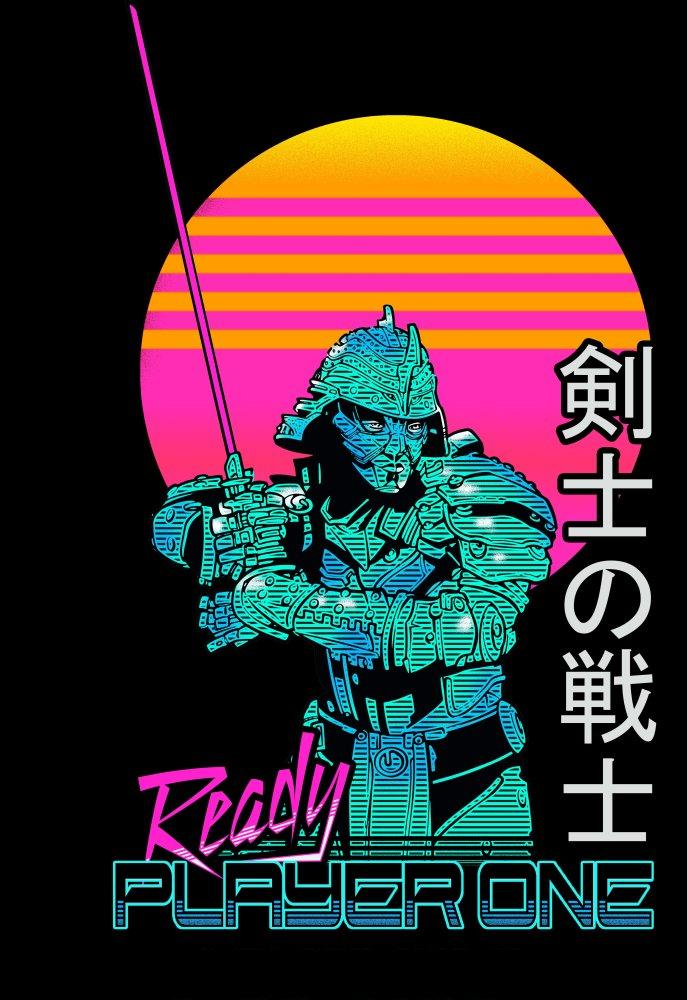 Daito Ready Player One Black T-Shirt - MOBOLINE