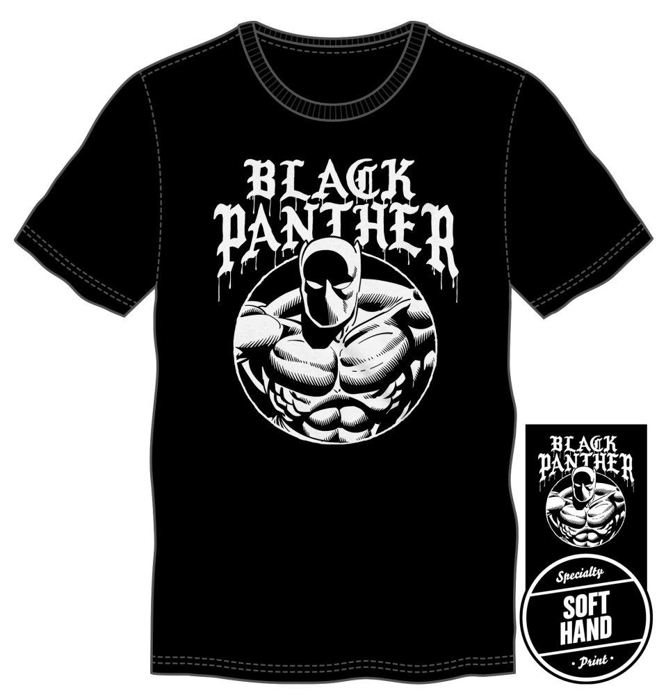 Marvel Comics Black Panther Men's Black T-Shirt Tee Shirt - MOBOLINE