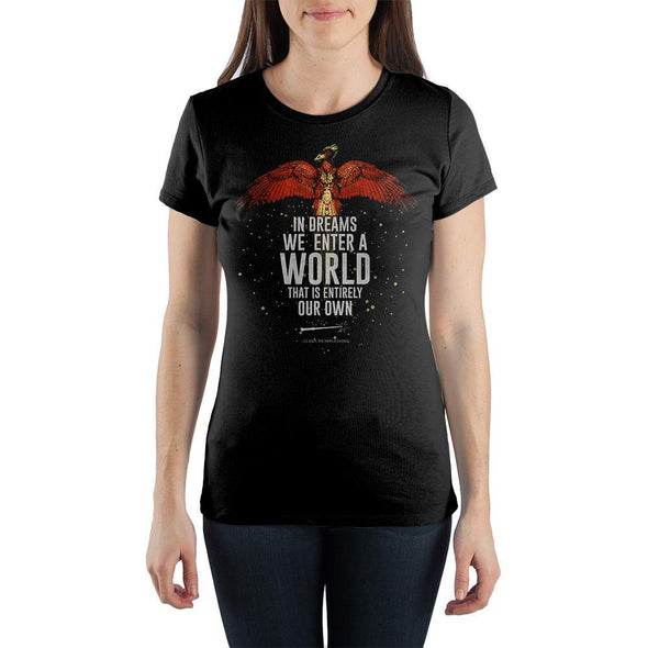 J.K. Rowling Harry Potter Quote Women's Black T-Shirt Tee Shirt - MOBOLINE