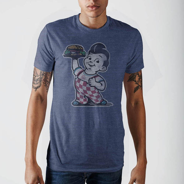 Bob's Big Boy Navy Heather T-Shirt - MOBOLINE