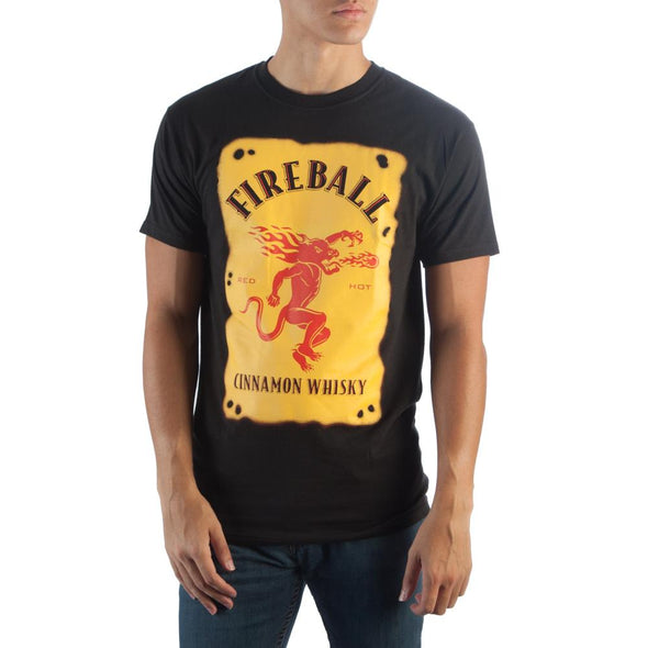 Fireball Label Black T-Shirt - MOBOLINE