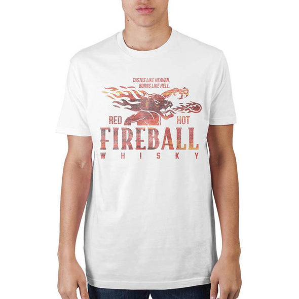 Fireball Whiskey White T-Shirt - MOBOLINE