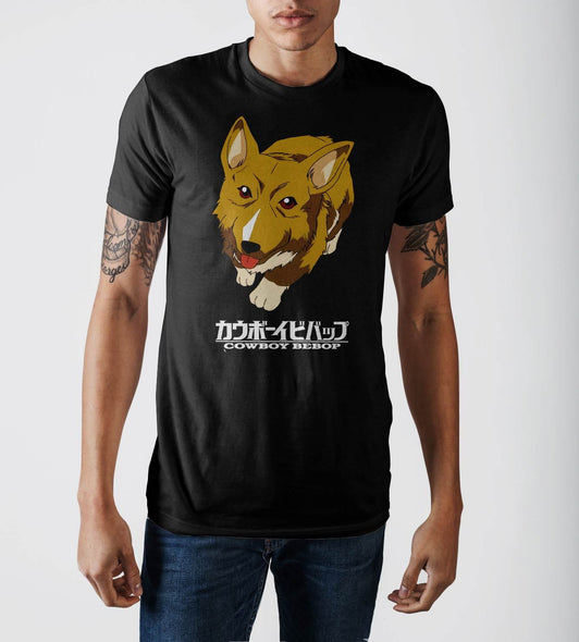 Cowboy Bebop Dog Black T-Shirt - MOBOLINE
