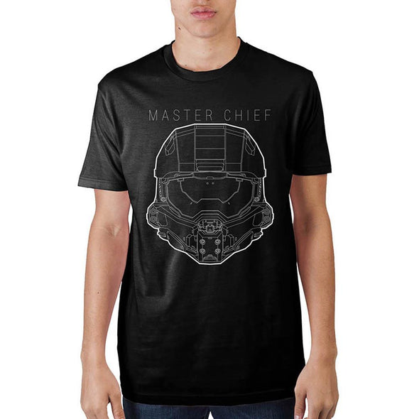 Halo Master Chief Black T-Shirt - MOBOLINE