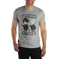 Harry Potter Gryffindor Versus Slytherin Captains Men's Gray T-Shirt - MOBOLINE