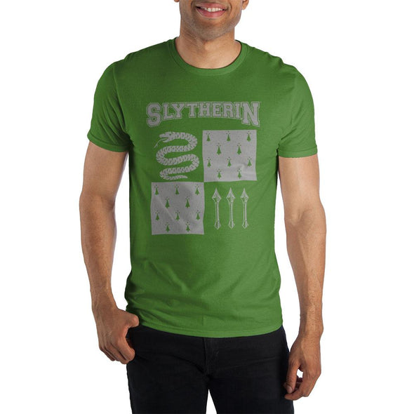 Harry Potter Slytherin Element of Water Men's Green T-Shirt - MOBOLINE