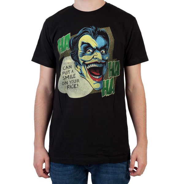 Heroes & Villains Joker Black T-Shirt - MOBOLINE