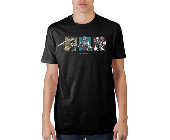 Destiny 2 Horizontal Guardian Grid Black Soft Hand Print T-shirt - MOBOLINE