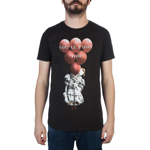 It Red Balloons Black T-Shirt - MOBOLINE