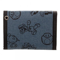 Mario Fabric Tri-Fold Wallet With Snaps - MOBOLINE