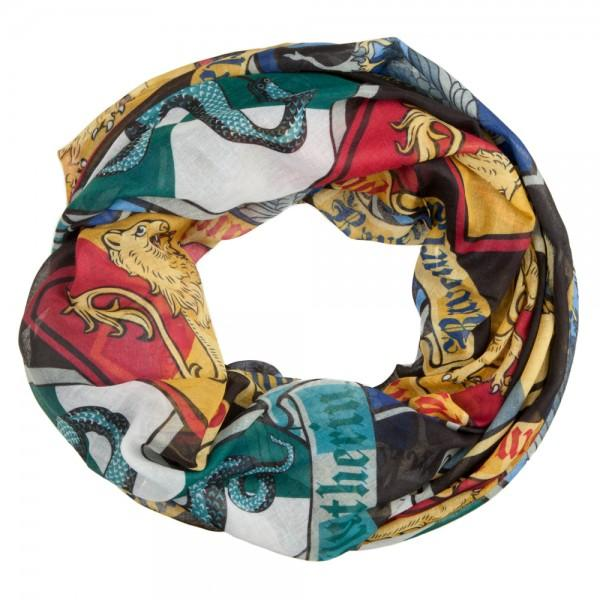 Harry Potter Crests Infinity Viscose Scarf - MOBOLINE