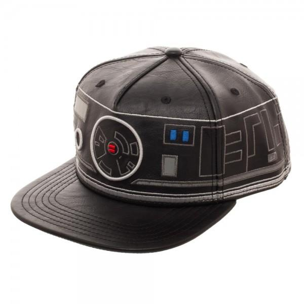 First Order BB Unit Big Face Embroidered Faux Leather Snapback - MOBOLINE