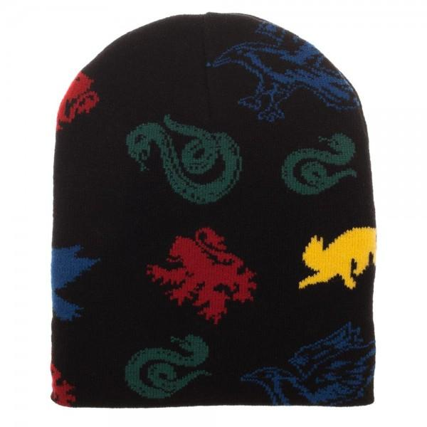 Hogwarts House Mascots Magic Jacquard Beanie - MOBOLINE