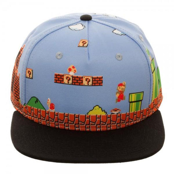 Mario 8-Bit All Over Scene Snapback - MOBOLINE