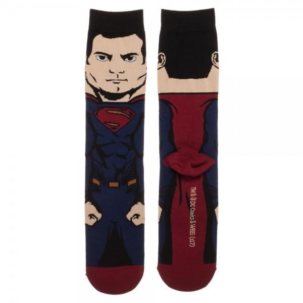 Justice League Superman 360 Character Crew Socks - MOBOLINE