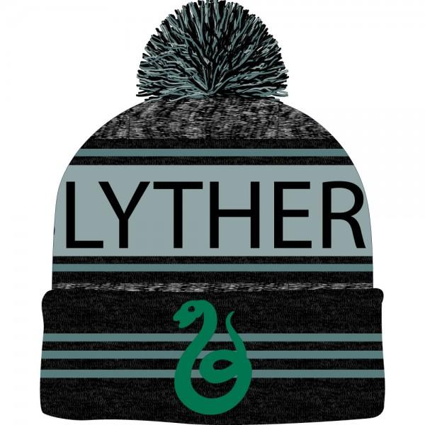 Harry Potter Black Green Teal Marled Pom Beanie - MOBOLINE