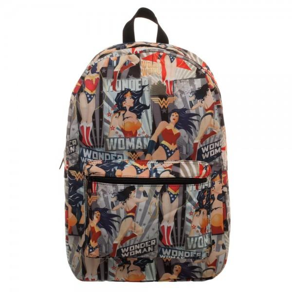 DC Comics Wonder Woman All Over Print Backpack - MOBOLINE