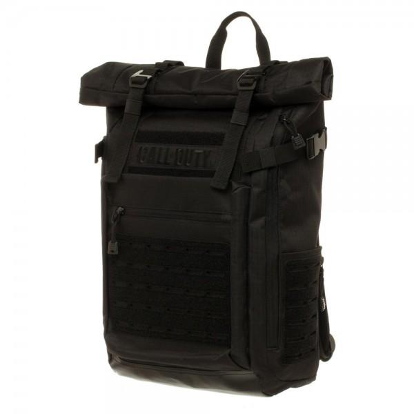 Call of Duty Black Military Roll Top Backpack with Laser Cuts - MOBOLINE