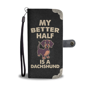 Cute Dachshund Wallet Case