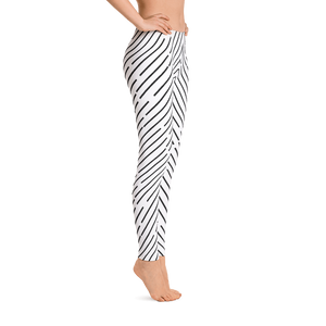 Black and White Stripped Leggings