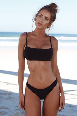 Free Solid Push-Up Bikini Set
