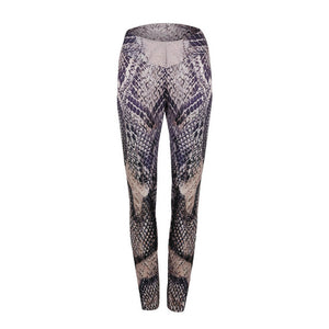 CHRLEISURE Push Up Leggings Women Polyester Ankle-Length Jeggings Snake Skin Printing Breathable Fitness Streetwear Girl Legging